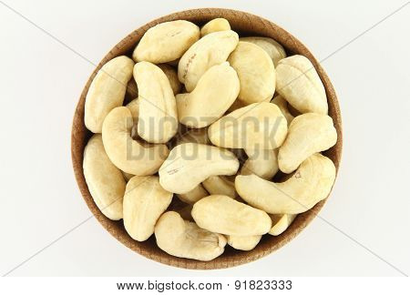 Cashew In A Round Wooden Form