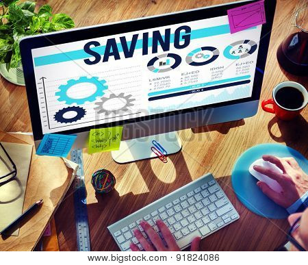 Saving Accounting Financial Banking Money Concept