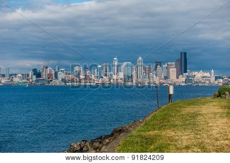Seattle Cityscape From Alki Beach
