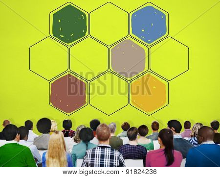 Bee Hive Honey Community Teamwork Concept