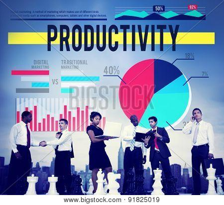 Productivity Growth Success Development Business Concept