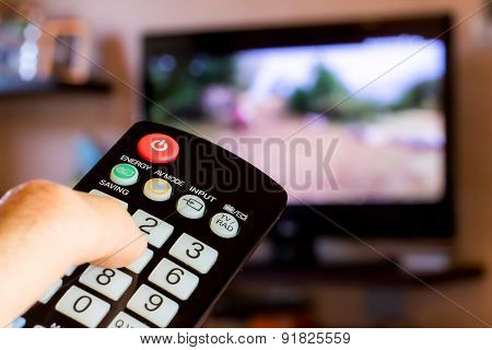 Using The Remote Control To Change Channesl On Tv