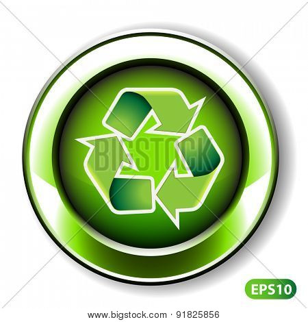 Vector Illustration of Label Design - Recycling