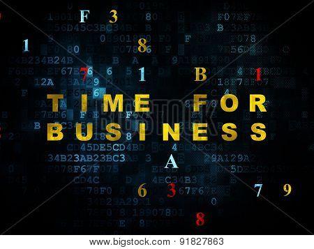 Timeline concept: Time for Business on Digital background