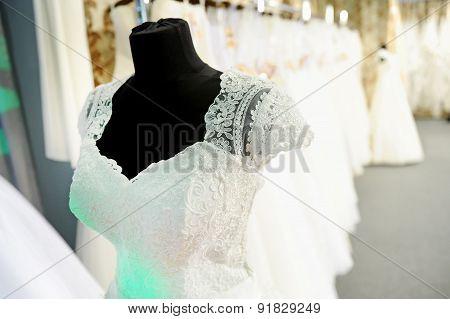 Wedding Dress On Mannequin