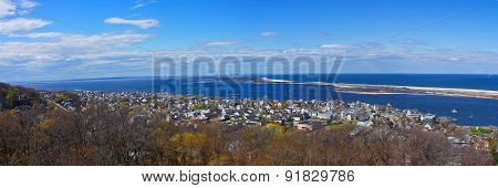 Sandy Hook, Ocean And Nyc Panorama