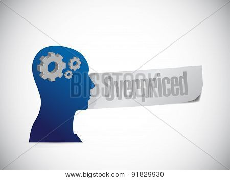 Overpriced People Sign Concept Illustration