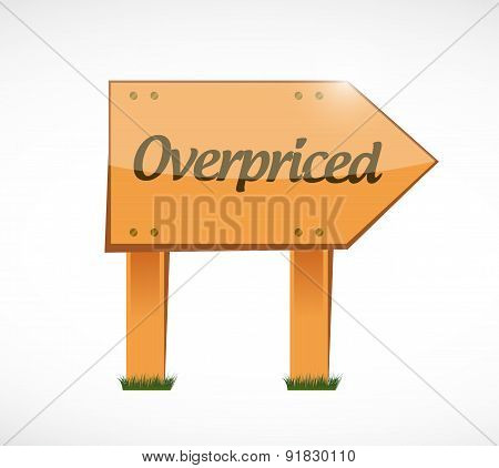 Overpriced Wood Sign Concept