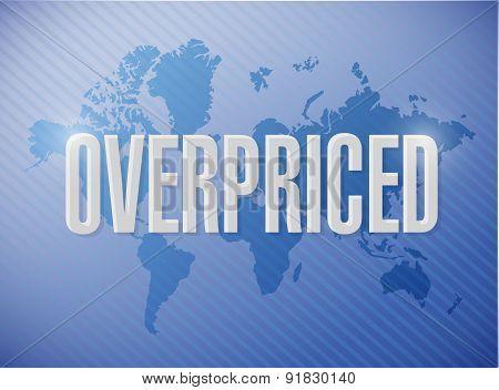 Overpriced Illustration Sign Concept
