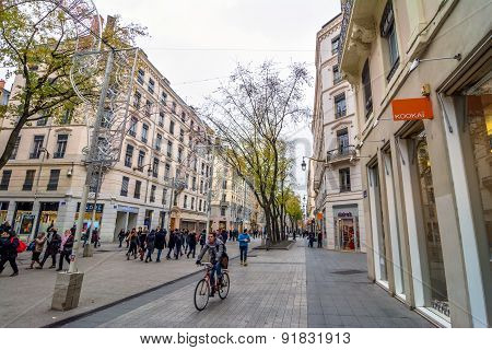 Street View In Lyon, France
