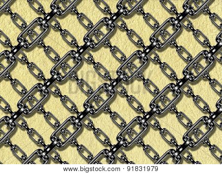 Iron Chains with Terry Towel Texture