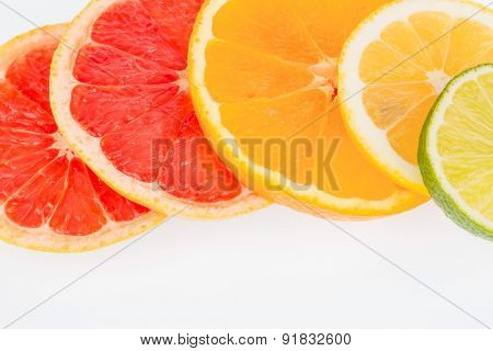 slices of an orange. symbolic photo for healthy vitamins through fresh fruit