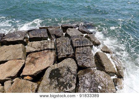 Stone breakwater