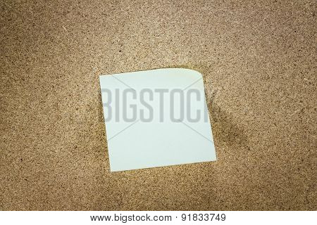Yellow Stick Note Paper On Wood Background
