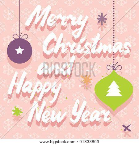 Retro Winter Holidays Card