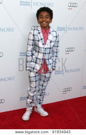 LOS ANGELES - MAY 27:  Miles Brown at the 8th Annual Television Academy Honors - Arrivals at the Montage Hotel on May 27, 2015 in Beverly Hills, CA
