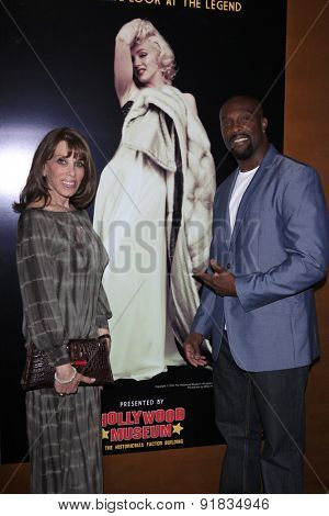 LOS ANGELES - MAY 27:  Kate Linder, Jerome Ro Brooks at the Missing Marilyn Monroe Images Unveiled at the Hollywood Museum on May 27, 2015 in Los Angeles, CA