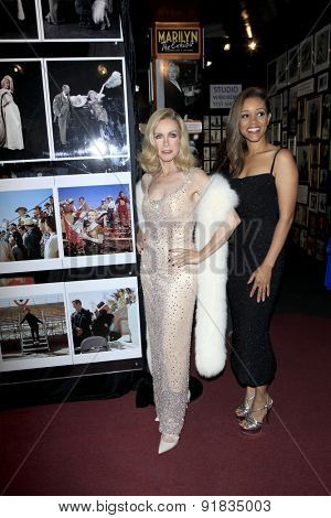 LOS ANGELES - MAY 27:  Donna Mills, Chrystee Pharris at the Missing Marilyn Monroe Images Unveiled at the Hollywood Museum on May 27, 2015 in Los Angeles, CA