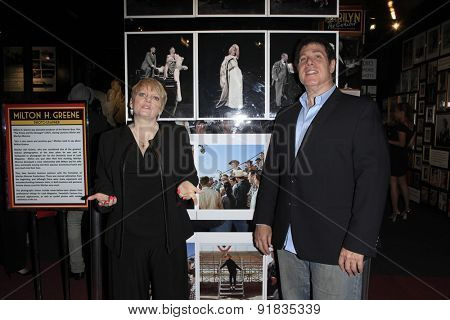 LOS ANGELES - MAY 27:  Alison Arngrim, Steven Wishnoff at the Missing Marilyn Monroe Images Unveiled at the Hollywood Museum on May 27, 2015 in Los Angeles, CA