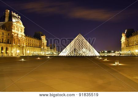 Museum by night in paris