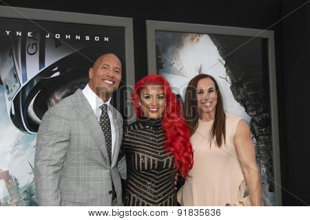 LOS ANGELES - MAY 26:  Dwayne Johnson, Eva Marie, Dany Garcia at the