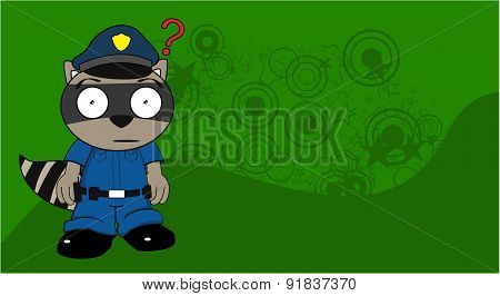 raccoon police cartoon background