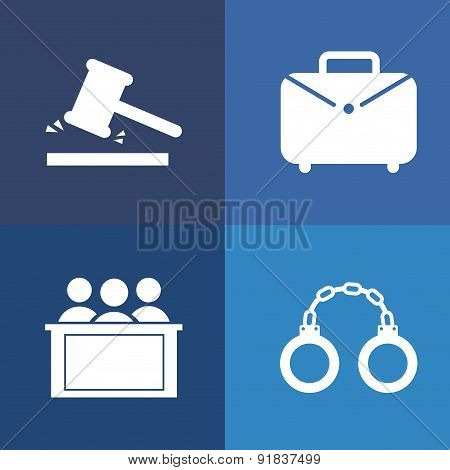 Law design over blue background vector illustration