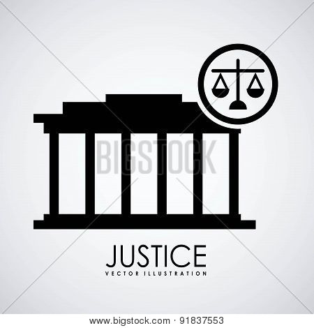 Law design over gray background vector illustration