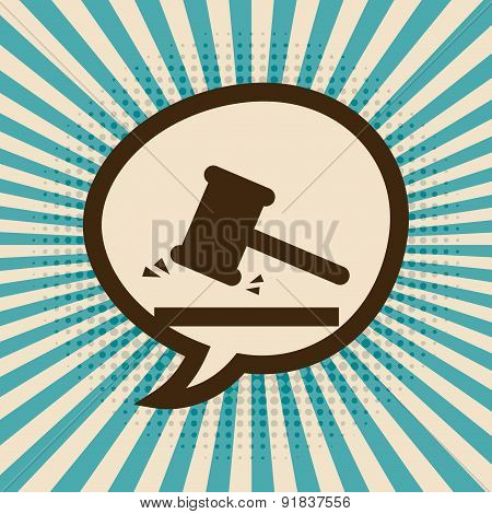 Law design over beige background vector illustration