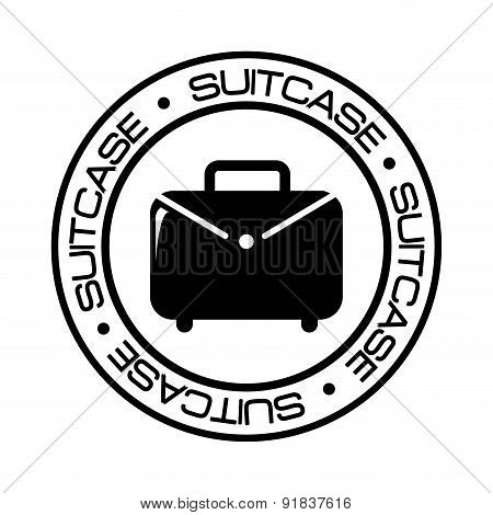 Suitcase icon over white background with suitcase vector illustr