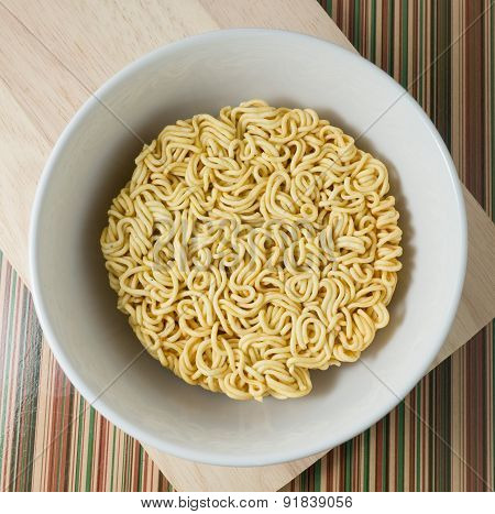 Asian Ramen Or Instant Noodles In A Bowl