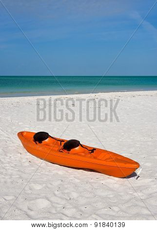 Canoe On Beach