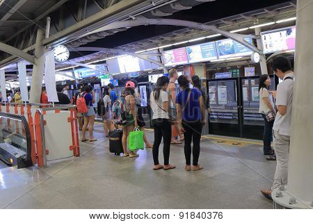 BTS train station Bangkok