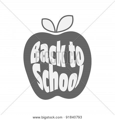 Vector icon. Apple, Back to School.