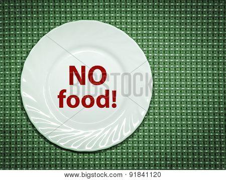 No food! Concept photo