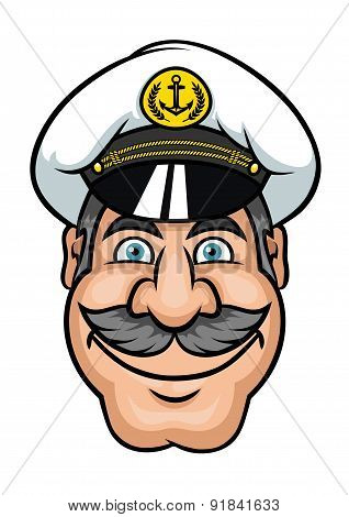 Moustached sailor or ship captain