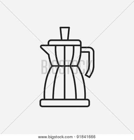 Coffee Maker Line Icon