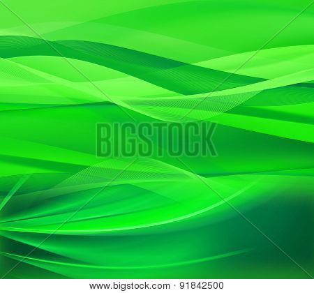 Green line wavebackground design template