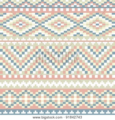 seamless pattern with simple ethnic ornament