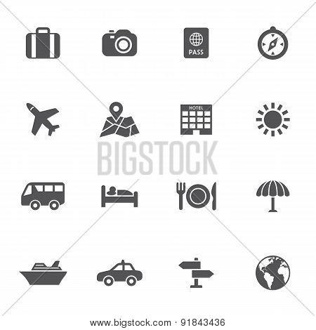 Set of travel vector icons
