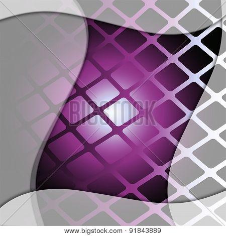 Dynamic wave purple grid background
