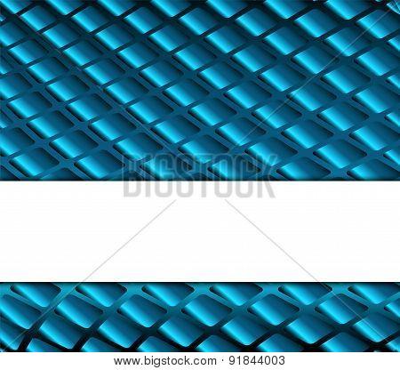 Grid blue background