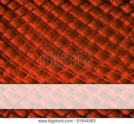 Grid orange background with place for text