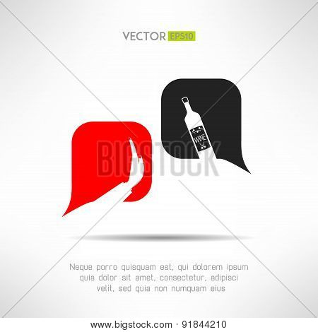 Vector no alcohol dialog background. Drinking forbidden sign. Health concept