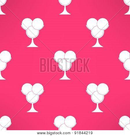 Vector ice cream seamless pattern in modern flat design. Dessert background