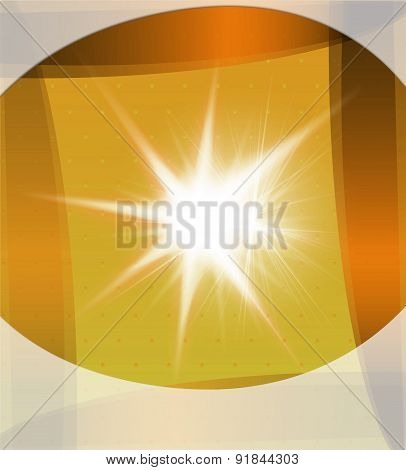 Yellow backgroud with burst light