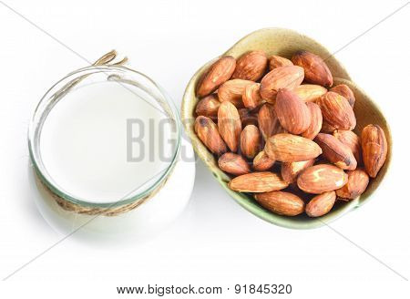 Almond Milk And Almond