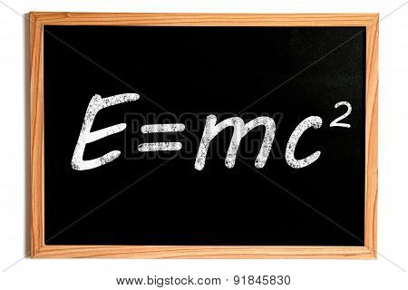 Einstein Energy Formula On Chalkboard