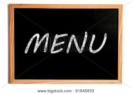 Menu Text On Chalkboard