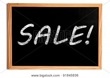 Sale Text On Chalkboard